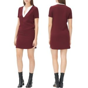 Sandro Paris - Raquel Contrast Neck Dress - 3